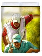 Sergio Garcia In The Madrid Masters Duvet Cover