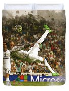 Sergio Ramos Tries To Score A Goal  Duvet Cover