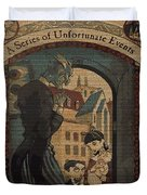 Series Of Unfortunate Events Book The First Typography Cover Using Every Word Of Text Duvet Cover