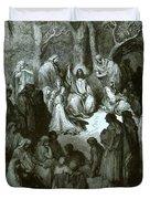 Sermon On The Mount Duvet Cover