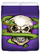Serpent Evil Skull Duvet Cover