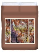 Set In Stone Triptych Duvet Cover