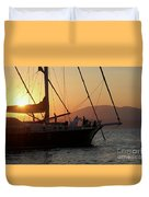 Set Sail On The Aegean At Sunset Duvet Cover