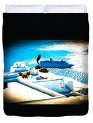 Set Sail Santorini Duvet Cover