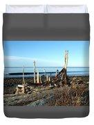 Seth's Seaside Driftwood Sculpture  Duvet Cover