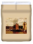 Setting Sail From Bristol Duvet Cover by Brian Roscorla