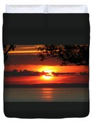 Setting Sun On The Bay Of Fundy Duvet Cover
