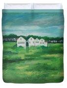 Settlement By Field Duvet Cover