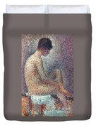 Seurat: Model, 1887 Duvet Cover