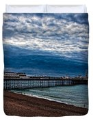 Seven Am On Brighton Seafront Duvet Cover