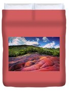 Seven Colored Earth In Chamarel. Mauritius Duvet Cover