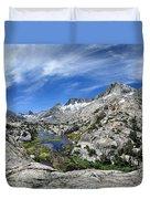 Seven Gables Over Seven Gables Lakes - Sierra Duvet Cover