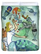 Seven Of Cups And Strange Dreams Duvet Cover