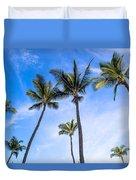 Seven Palms Of Paradise Duvet Cover
