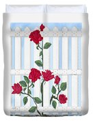 Seven Roses For Mary Duvet Cover