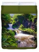 Seven Sacred Pools Maui Duvet Cover