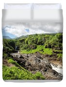 Seven Sacred Pools Ohe'o Mau Duvet Cover