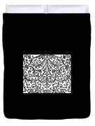 Seventeenth Century Parterre Pattern Design Duvet Cover