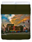 Seventh And Bleeker At Sunrise Nyc Duvet Cover