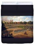 Seventh Regiment On Review. Washington Square. New York Duvet Cover