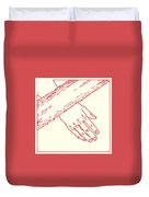 Seventh Station- Jesus Falls The Second Time  Duvet Cover