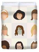 Seventies Movie Chicks Duvet Cover