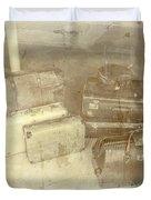 Several Vintage Bags On Floor Duvet Cover