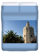 Seville - A View Of Torre Del Oro 2 Duvet Cover