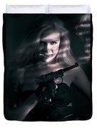 Sexy Woman Assassin Duvet Cover