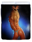 Sexy Young Woman Back Duvet Cover