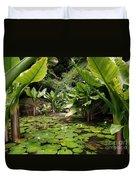 Seychelles Islands Pond Duvet Cover