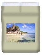 Seychelles Rocks Duvet Cover