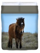Shackleford Banks Pony Duvet Cover