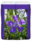 Shaded Greater Periwinkle Duvet Cover
