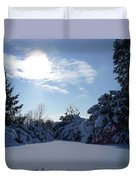 Shades Of Blue In Winter Duvet Cover