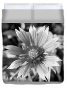 Shades Of Gray Flower By Earl's Photography Duvet Cover