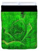 Shades Of Green Stained Glass Duvet Cover