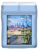 Shades Of Philadelphia Duvet Cover