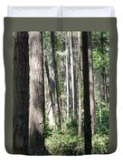 Shades Of Trees Duvet Cover