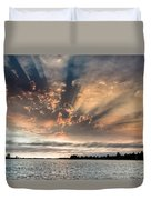 Shadow Cloud Over Humboldt Bay Duvet Cover