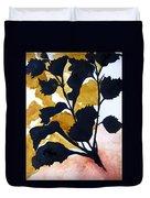 Shadow Hibiscus Duvet Cover