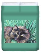 Shadow In The Grass Duvet Cover