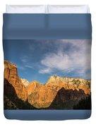 Shadow Mountain Zion National Park Utah Duvet Cover