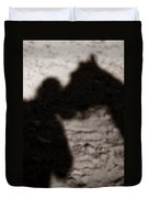 Shadow Of Horse And Girl - Vertical Duvet Cover
