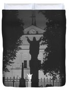Shadow Of Jesus Duvet Cover