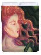 Shadow Of Medusa Duvet Cover