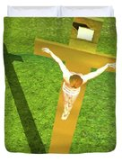 Shadow Of The Christ Duvet Cover