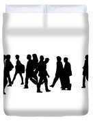 Shadow People Duvet Cover
