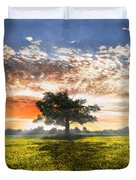 Shadows At Sunset After The Rain Duvet Cover