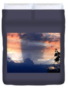 Shadows In The Sky Duvet Cover